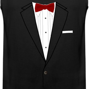 Tuxedo Red Bowtie Long Sleeve Shirts - Men's Premium Tank
