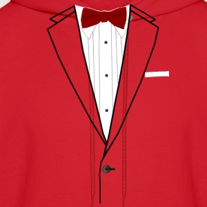 Tuxedo Red Bowtie Long Sleeve Shirts - Men's Hoodie