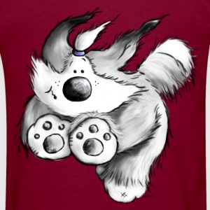 Flying Bearded Collie - dog - herding dog Hoodies - Men's T-Shirt