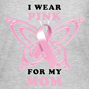 I Wear Pink for my Mom (Butterfly) Women's T-Shirts - Women's Long Sleeve Jersey T-Shirt