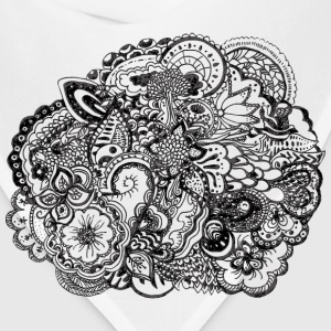 Black and white pen and ink doodle T-Shirts - Bandana