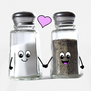 Cute salt and pepper love - we go together Hoodies - Men's Premium T-Shirt