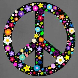 Floral Peace Sign T-Shirts - Adjustable Apron