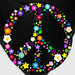 Floral Peace Sign T-Shirts - Bandana