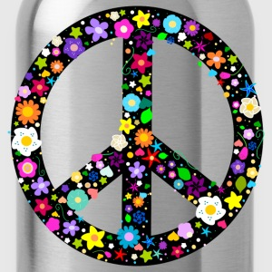 Floral Peace Sign T-Shirts - Water Bottle