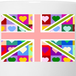 Union Jack of Hearts - Pink British Flag Women's T-Shirts - Coffee/Tea Mug