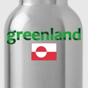 greenland_flag Women's T-Shirts - Water Bottle