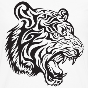 Tribal Tiger Hoodies - Men's Premium Long Sleeve T-Shirt