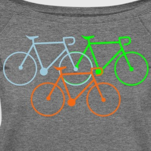 bike singlespeed fixie bycicle Women's T-Shirts - Women's Wideneck Sweatshirt