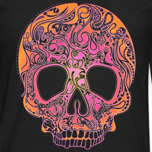 Colorful Skull T-Shirts - Men's Premium Long Sleeve T-Shirt