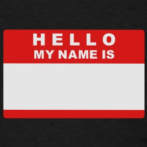 Hello my name is Bags  - Men's T-Shirt