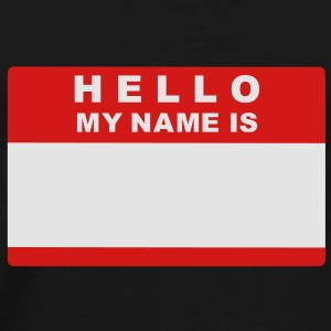 Hello my name is Bags  - Men's Premium T-Shirt