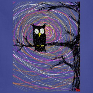 owl in spooky tree halloween  T-Shirts - Adjustable Apron