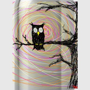 owl in spooky tree halloween  T-Shirts - Water Bottle