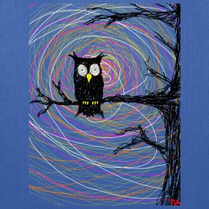 owl in spooky tree halloween  T-Shirts - Tote Bag
