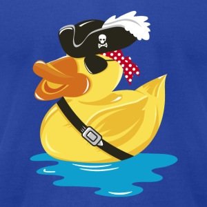 A pirate rubber duck with a pirate hat and eye pat Hoodies - Men's T-Shirt by American Apparel
