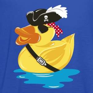 A pirate rubber duck with a pirate hat and eye pat Hoodies - Women's Flowy Tank Top by Bella