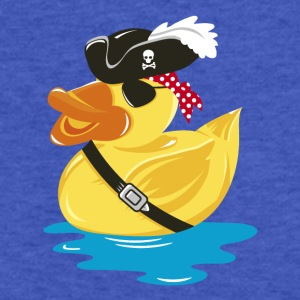 A pirate rubber duck with a pirate hat and eye pat Sweatshirts - Fitted Cotton/Poly T-Shirt by Next Level