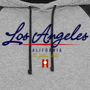 Los Angeles Script American Apparel T-Shirt - Colorblock Hoodie