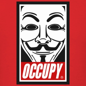 Occupy Anonymous Mask Hoodies - Men's T-Shirt