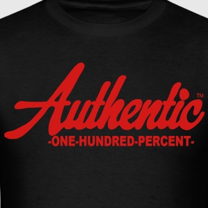 Authentic One Hundred Percent Hoodies - Men's T-Shirt