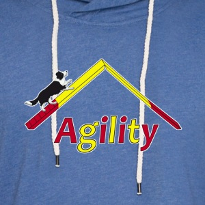 agility border collie 1 T-Shirts - Unisex Lightweight Terry Hoodie