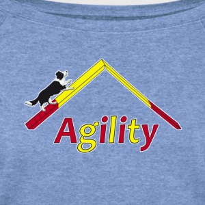 agility border collie 1 T-Shirts - Women's Wideneck Sweatshirt