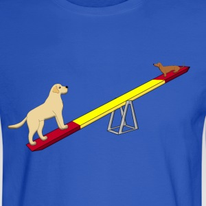 agility two dogs Hoodies - Men's Long Sleeve T-Shirt