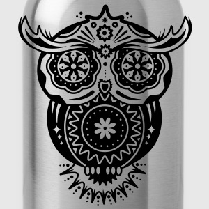 Owl in the style of Sugar Skulls Women's T-Shirts - Water Bottle