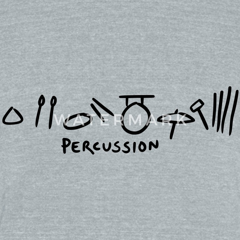 percussion T-Shirts - Unisex Tri-Blend T-Shirt by American Apparel