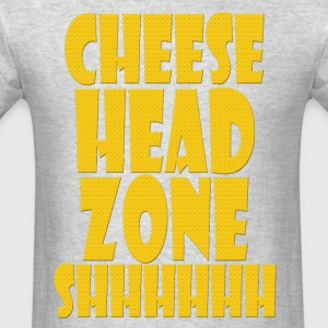 Cheesehead Zone Shhh - Men's T-Shirt
