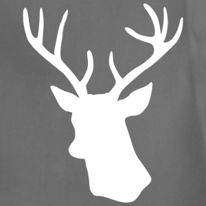 White Stag Deer Head T-Shirts - Adjustable Apron