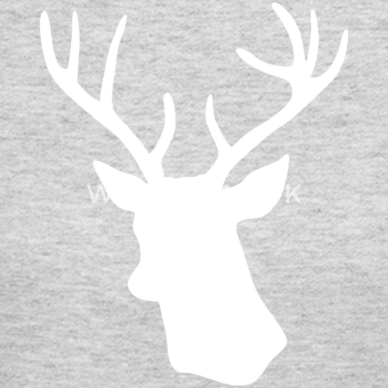 White Stag Deer Head Long Sleeve Shirts - Women's Long Sleeve Jersey T-Shirt