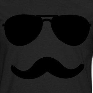 aviator_moustache - Men's Premium Long Sleeve T-Shirt