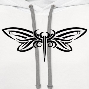 Tribal Butterfly - Contrast Hoodie