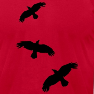 1 color - raven mystical crows flying birds Tanks - Men's T-Shirt by American Apparel