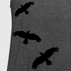 1 color - raven mystical crows flying birds T-Shirts - Women's Flowy Tank Top by Bella