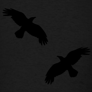 1 color - raven mystical crows flying birds Hoodies - Men's T-Shirt