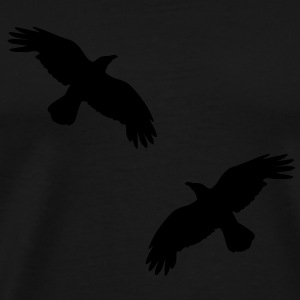 1 color - raven mystical crows flying birds Hoodies - Men's Premium T-Shirt