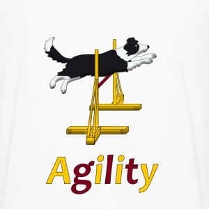 Agility Border Collie jump Hoodies - Men's Premium Long Sleeve T-Shirt