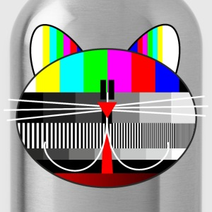 tv - television - test card cat T-Shirts - Water Bottle