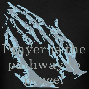 praying_hands_with_text3 Hoodies - Men's T-Shirt