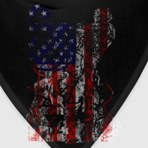 MACP Knee Logo in USA Flag T-Shirts - Bandana