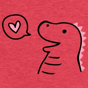 Cute Dinosaur Tanks - Fitted Cotton/Poly T-Shirt by Next Level