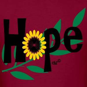 hope_with_sunflower and leafs Hoodies - Men's T-Shirt