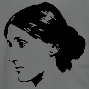 Virginia Woolf T-Shirts - Unisex Fleece Zip Hoodie by American Apparel
