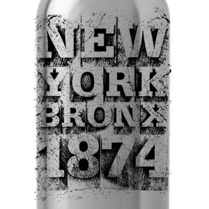 New York Bronx 1874 (black) - Water Bottle