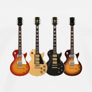 Four Electric Guitars: Button - Men's Premium T-Shirt