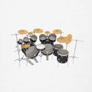 Black Drum Kit: Button - Men's T-Shirt