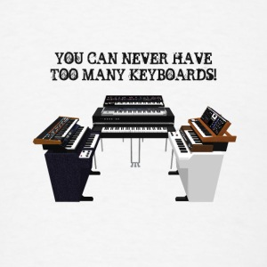 Too Many Keyboards: Button - Men's T-Shirt